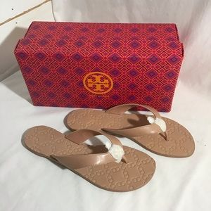 NEW Tory Burch Monroe Leather Thong Sandals